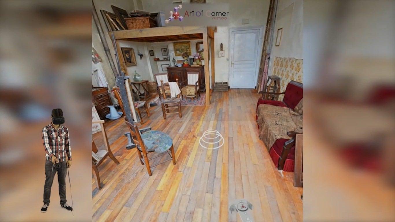 Artist's studio Utrillo Valadon in Montmartre, Paris
